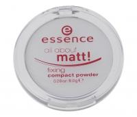Essence - All about matt! Fixing Compact Powder - Transparentny puder matujący w kompakcie