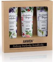 ANWEN - Proteiny, Emolienty, Humektanty - Zestaw odżywek do włosów o wysokiej porowatości - Nawilżający Bez, Emolientowa Róża, Proteinowa Orchidea - 3x100 ml