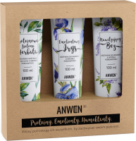 ANWEN - Proteins, Emollients, Humectants - Set of medium porosity hair conditioners - Moisturizing Lilac, Emollient Iris, Protein Green Tea - 3x100 ml