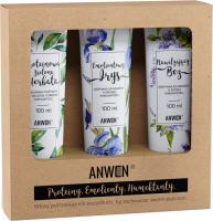 ANWEN - Proteiny, Emolienty, Humektanty - Zestaw odżywek do włosów o średniej porowatości - Nawilżający Bez, Emolientowy Irys, Proteinowa Zielona Herbata - 3x100 ml
