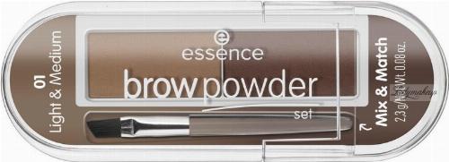 Essence - Brow Powder Set - Zestaw do stylizacji brwi
