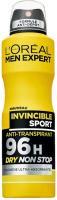 L'Oreal - MEN EXPERT - INVINCIBLE SPORT ULTRA ABSORBING ANTI-PERSPIRANT 96H - Spray antiperspirant for men - 150 ml