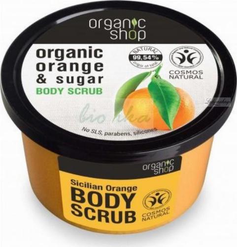 ORGANIC SHOP - BODY SCRUB - Peeling do ciała - Sycylijska pomarańcza - 250 ml