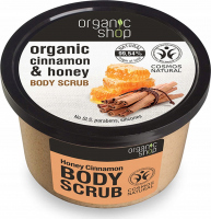 ORGANIC SHOP - BODY SCRUB - Peeling do ciała - Miodowy cynamon - 250 ml