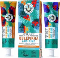 Agafia - Recipes of Babuszka Agafia - Two-step, Siberian toothpaste set - Sea Buckthorn and Pine - 2x60g