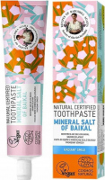 Agafia - Recipes of Agafia Babuszka - Natural Toothpaste - Mineral Salt Of Baikal - Natural toothpaste with mineral salt from Baikal - Radiant Smile - 85 g