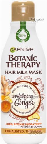 GARNIER - BOTANIC THERAPY - HAIR MILK MASK - Rewitalizująca maska do włosów cienkich i zmęczonych - Imbir & Mleko Migdałowe - 250 ml