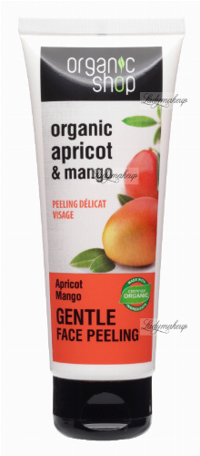 ORGANIC SHOP - GENTLE FACE PEELING - Delikatny peeling do twarzy - Morela i mango - 75 ml