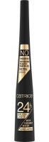 Catrice - 24H Brush Liner - Eyeliner w płynie - 010 Ultra Black