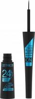 Catrice - 24H Brush Liner - Wodoodporny eyeliner w płynie - 010 Ultra Black Waterproof