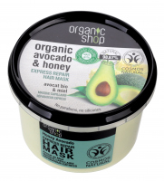 ORGANIC SHOP - Express Repair Hair Mask - Organic Avocado & Honey - Express regenerating hair mask - Honey Avocado - 250 ml