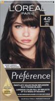 L'Oréal - Préférence - Permanent Haircolor 4.0 TAHITI - BROWN - Farba do włosów - Trwała koloryzacja - Brąz
