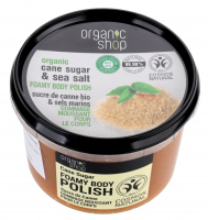 ORGANIC SHOP FOAMY BODY POLISH - Foaming body paste - Cane sugar - 250 ml