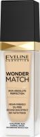 Eveline Cosmetics - WONDER MATCH Foundation - Luxurious foundation matching the skin with hyaluronic acid - 30 ml - 05 LIGHT PORCELAIN - 05 LIGHT PORCELAIN