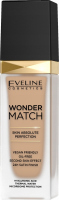 Eveline Cosmetics - WONDER MATCH Foundation - Luxurious foundation matching the skin with hyaluronic acid - 30 ml - 30 COOL BEIGE - 30 COOL BEIGE