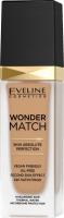 Eveline Cosmetics - WONDER MATCH Foundation - Luxurious foundation matching the skin with hyaluronic acid - 30 ml - 40 SAND - 40 SAND