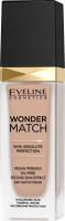 Eveline Cosmetics - WONDER MATCH Foundation - Luxurious foundation matching the skin with hyaluronic acid - 30 ml - 15 NATURAL - 15 NATURAL