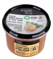 ORGANIC SHOP - FOAMY BODY POLISH - Pienista pasta cukrowa do ciała - Słodkie Migdały - 250 ml