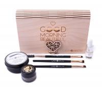 LashBrow - Zestaw prezentowy kosmetyków do stylizacji brwi w drewnianej szkatułce