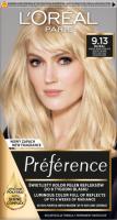 L'Oréal - Préférence - Permanent Haircolor 9.13 - BAIKAL - Farba do włosów - Trwała koloryzacja - Bardzo Jasny Popielato-Złocisty Blond