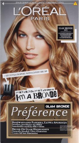 L'Oreal - GLAM BRONDE Preference - Farba do pasemek na włosach - No. 2