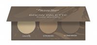 Pierre René - Brow Palette - Paleta cieni do brwi - 02 Dark Brown