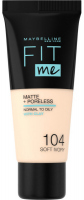 MAYBELLINE - FIT ME! Liquid Foundation For Normal To Oily Skin - 104 SOFT IVORY - 104 SOFT IVORY