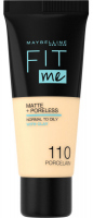MAYBELLINE - FIT ME! Liquid Foundation For Normal To Oily Skin - 110 PORCELAIN - 110 PORCELAIN
