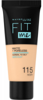 MAYBELLINE - FIT ME! Liquid Foundation For Normal To Oily Skin - 115 IVORY - 115 IVORY