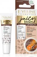 Eveline Cosmetics - Juicy Kisses Lip Balm - Regenerujący balsam do ust - Chocolate Passion - 12 ml