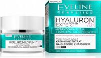 Eveline Cosmetics - HYALURON EXPERT 70+ Multiodżywczy krem koncentrat na głębokie zmarszczki - Dzień/Noc - 50 ml