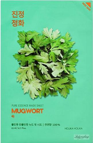 Holika Holika - Pure Essence Mask Sheet Mugwort - Maseczka do twarzy z ekstraktem z bylicy