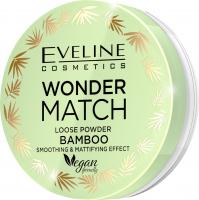 Eveline Cosmetics - WONDER MATCH LOOSE POWDER BAMBOO - Wygładzająco-matujący puder bambusowy - 6 g