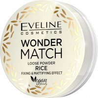 Eveline Cosmetics - WONDER MATCH LOOSE POWDER RICE - Fixing and mattifying rice powder - 6 g