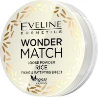 Eveline Cosmetics - WONDER MATCH LOOSE POWDER RICE - Fixing and mattifying rice powder - 6 g