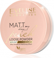Eveline Cosmetics - MATT My Day Peach Loose Powder - Smoothing and matting face powder - 6 g