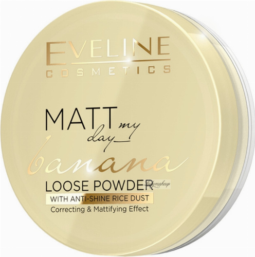 Eveline Cosmetics - MATT My Day Banana Loose Powder - Matujący puder bananowy - 6 g