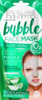 Eveline Cosmetics - Bubble Face Mask ALOE VERA - Nawilżajaco-kojąca maska bąbelkowa w płacie (każdy rodzaj cery) - Efekt chłodzący