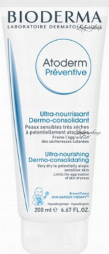 BIODERMA - Atoderm Preventive - Nourishing cream to prevent skin dryness - 200 ml