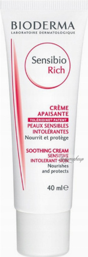 BIODERMA - Sensibio Rich - Soothing Cream - Soothing and moisturizing face cream with a rich texture - 40 ml