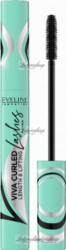 Eveline Cosmetics - VIVA CURLED LASHES - LENGTH & LIFTING MASCARA - Wydłużajaco-podkrecający tusz do rzęs - 10 ml