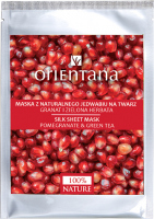 ORIENTANA - Natural silk face mask - Pomegranate and green tea