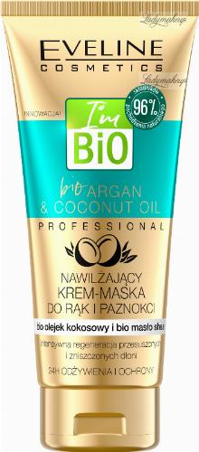 Eveline Cosmetics - I'm BIO - Bio Argan & Coconut Oil - Nawilżający krem-maska do rąk i paznokci - 100 ml