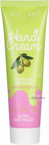 VOLLARÉ - HAND CREAM - ULTRA NUTRION - Ultra odżywczy krem do rąk - 100 ml