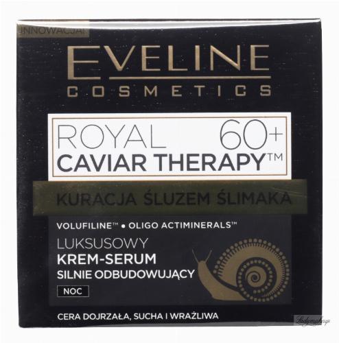 Eveline Cosmetics - ROYAL CAVIAR THERAPY 60+ Luksusowy krem-serum silnie odbudowujący - Noc - 50 ml
