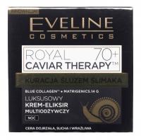 Eveline Cosemtics - ROYAL CAVIAR THERAPY 70+ - Luksusowy krem eliksir do twarzy ze śluzem ślimaka - Noc - 50 ml