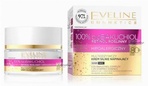 Eveline Cosmetics - 100% bioBAKUCHIOL - Multiodżywczy krem silnie napinający do twarzy 80+ Dzień / Noc - 50 ml