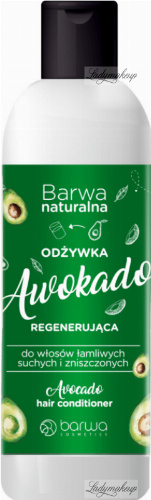 BARWA - BARWA NATURALNA - Regenerująca odżywka do włosów łamliwych, suchych i zniszczonych - Awokado - 200 ml