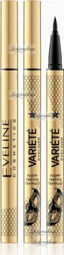 Eveline Cosmetics - Variete Eyeliner - Wodoodporny eyeliner w pisaku 24h - Ultra Black