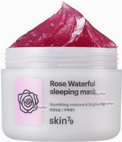 Skin79 - Rose Waterfull Sleeping Mask - Rozjaśniająco-złuszczająca maseczka różana do twarzy na noc - 100 ml